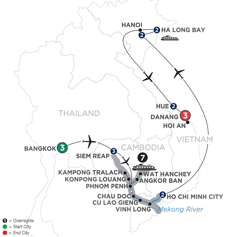 Ultimate Southeast Asia & The Majestic Mekong – with Hue & Danang – Southbound