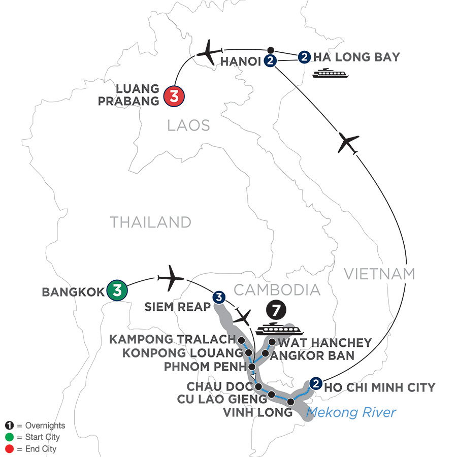 Ultimate Southeast Asia & The Majestic Mekong – with Luang Prabang – Southbound