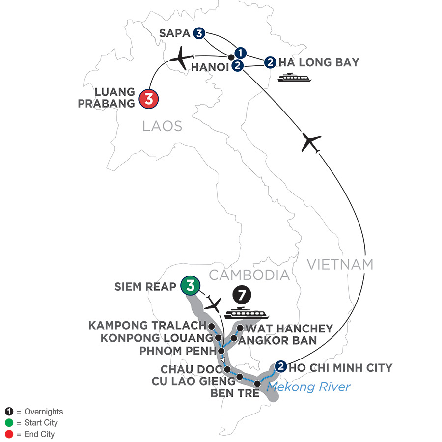 The Heart of Cambodia & Vietnam with Sapa and Luang Prabang – Southbound