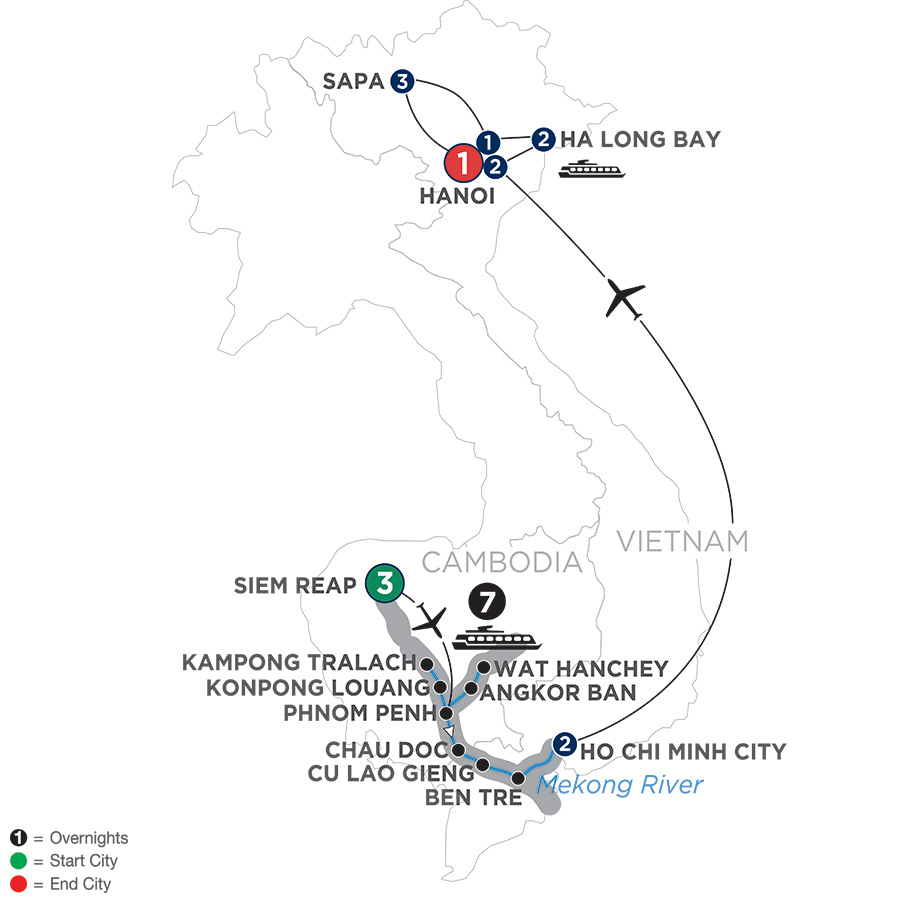 The Heart of Cambodia & Vietnam with Sapa – Southbound