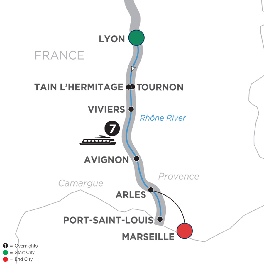Active Discovery on the Rhône – Southbound