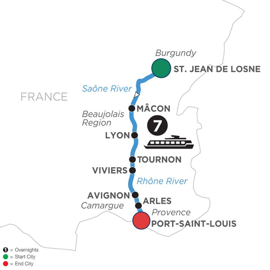 Burgundy & Provence (Southbound)