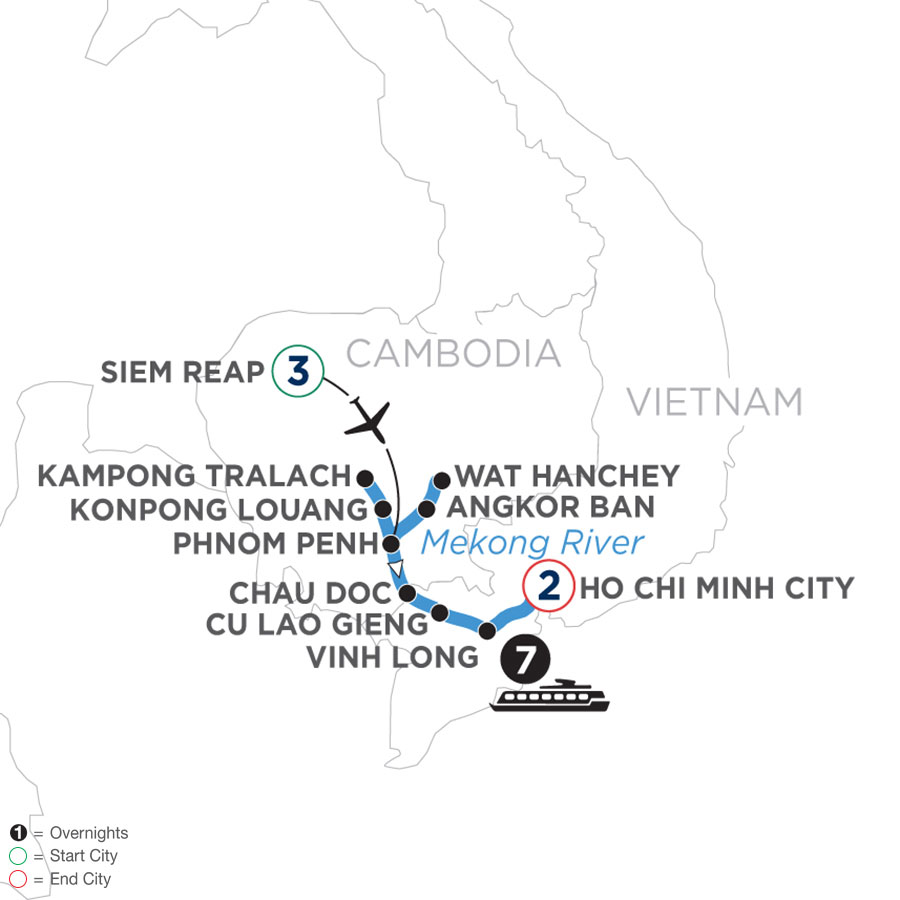 Fascinating Vietnam, Cambodia & the Mekong River (Southbound)