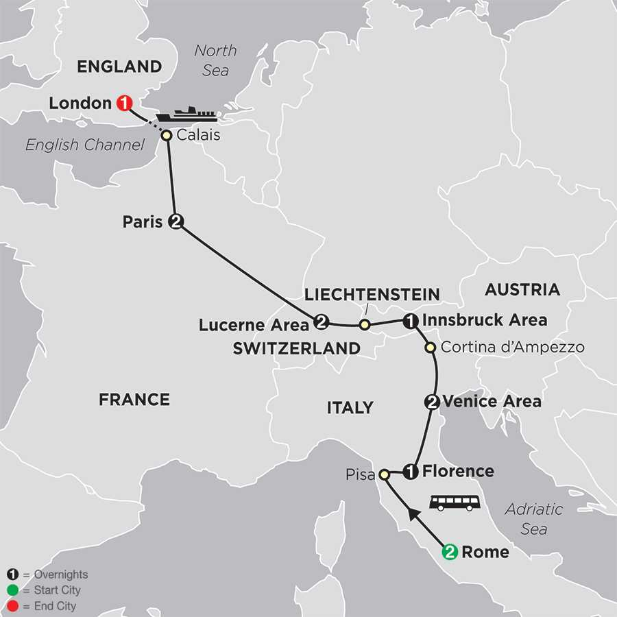 From Rome to London