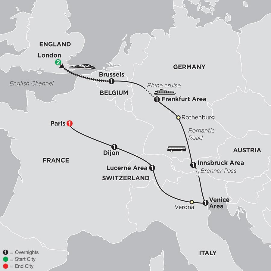 Six Countries, Venice & Paris