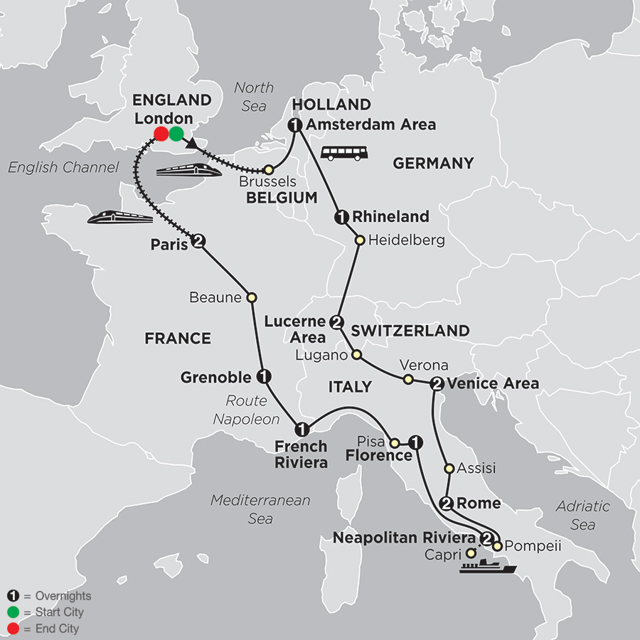 MultiCountry Europe Tours Panoramas Vacation Packages Cosmos - Best europe tours