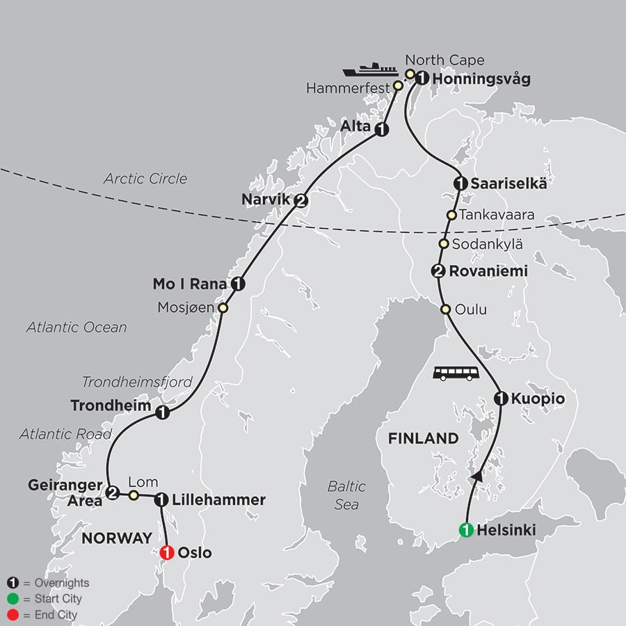 Northern Highlights & the Arctic Circle