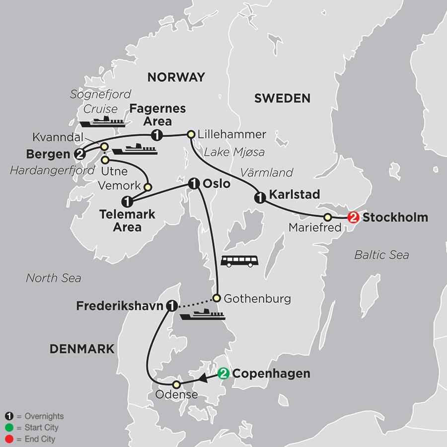 Tour Denmark Norway Sweden