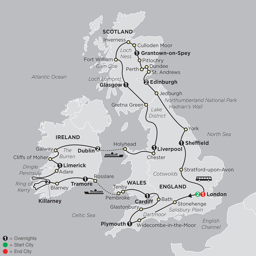 Grand Tour of Britain & Ireland