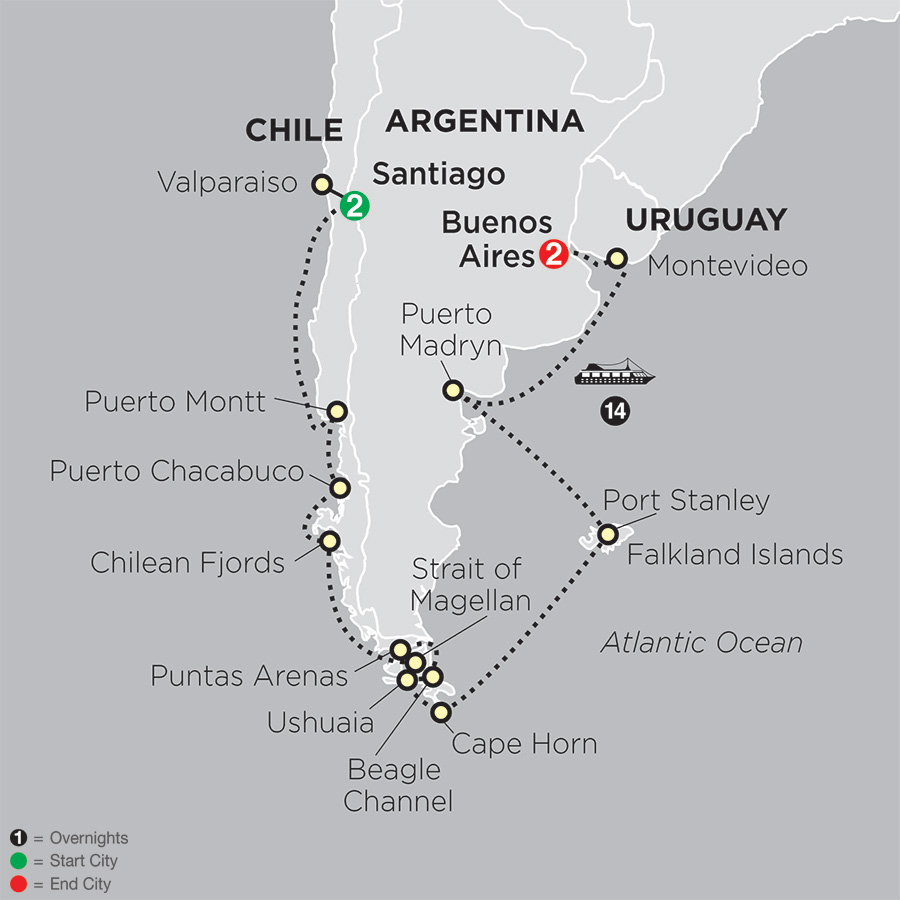 Cruising South America with Pre Easter Island