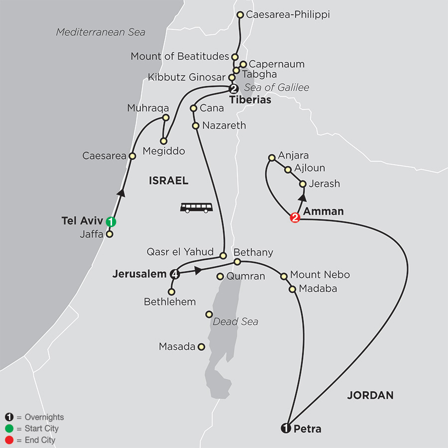 Biblical Israel with Jordan - Faith-Based Travel - Protestant Itinerary