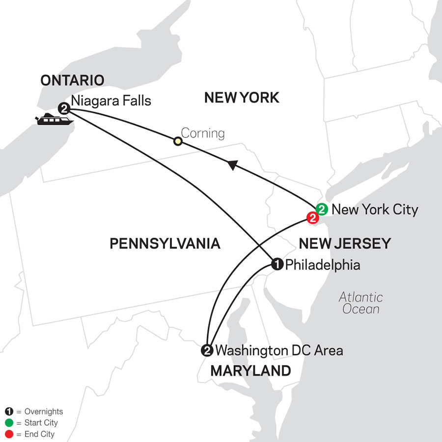 New York, Niagara Falls & Washington DC with Extended Stay in New York City