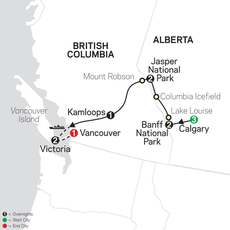 Heart of the Canadian Rockies with Calgary Stampede