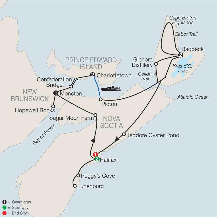 Wonders of the Maritimes & Scenic Cape Breton