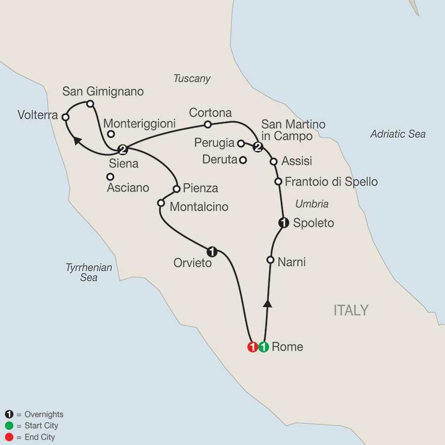 Gems of Umbria & Tuscany