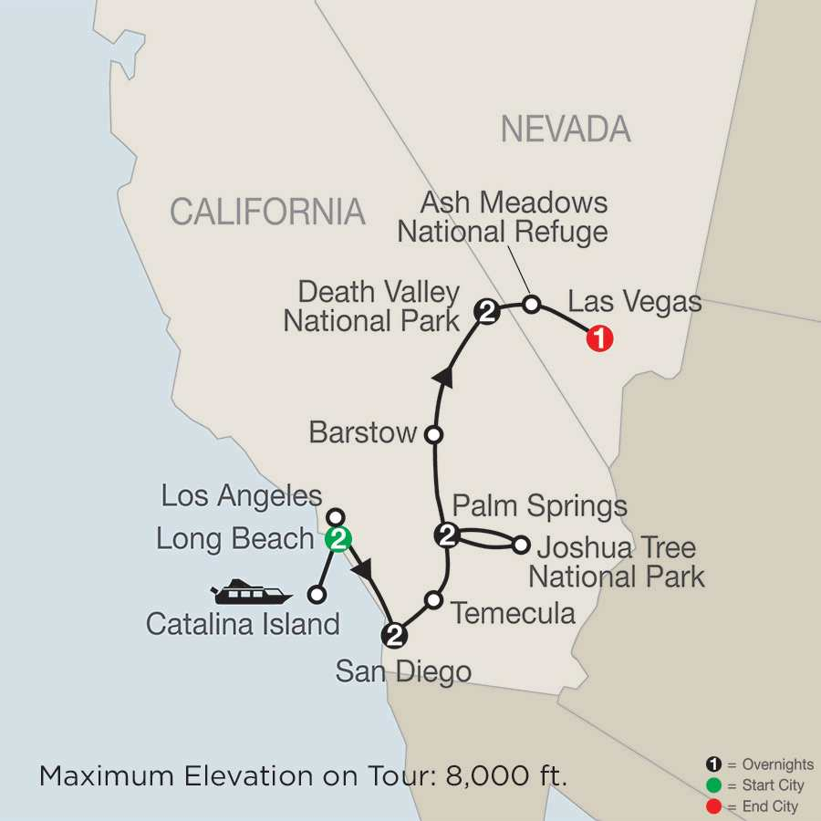 Southern California with Death Valley & Joshua Tree National Parks