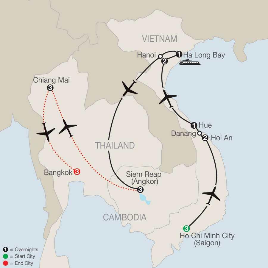 Vietnam & Cambodia: A Grand Adventure with Bangkok & Chiang Mai