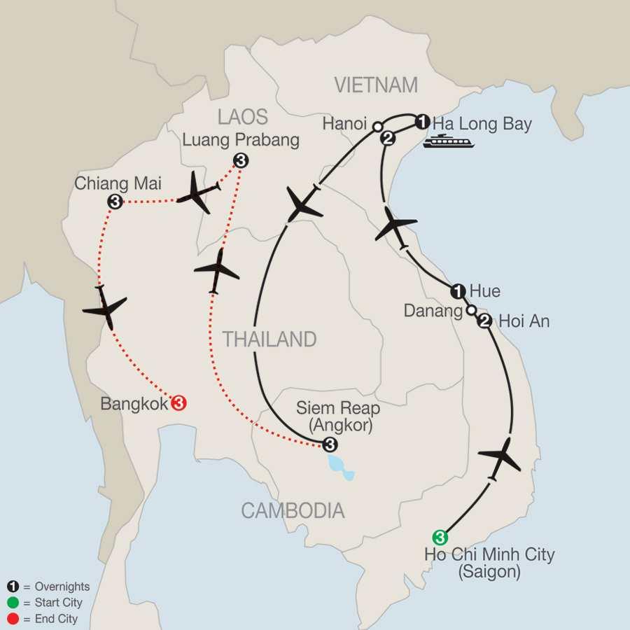 Exploring Vietnam & Cambodia with Luang Prabang, Chiang Mai & Bangkok