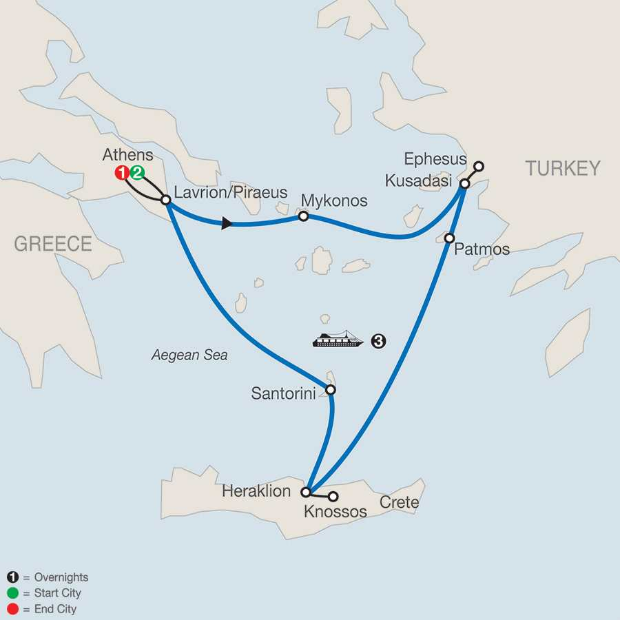 Iconic Aegean with 3-Night Cruise