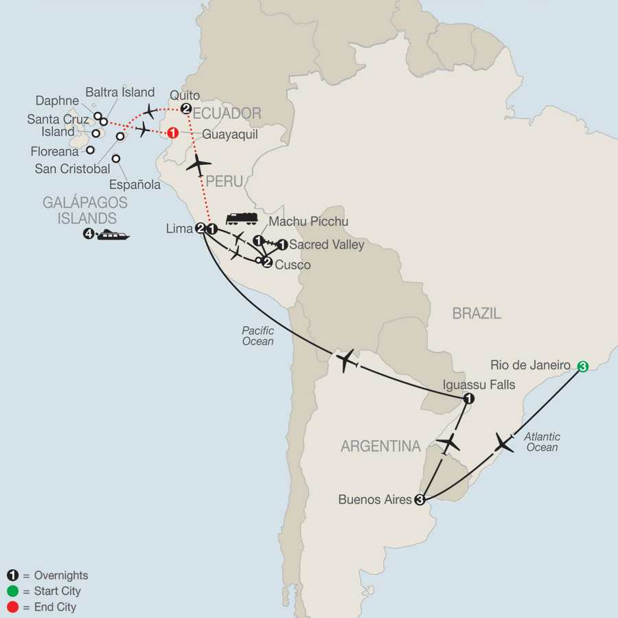 Spirit of South America with Galápagos Cruise