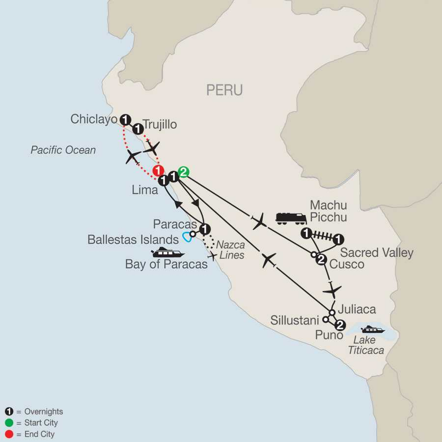 Legacy of the Incas with Chiclayo & Trujillo