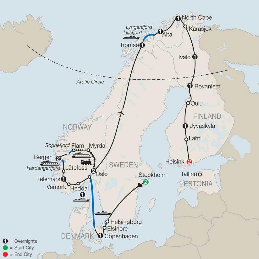 The Grand Scandinavian Circle Tour