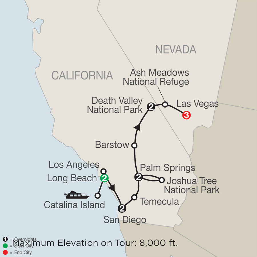 Southern California with Death Valley & Joshua Tree National Parks with Las Vegas