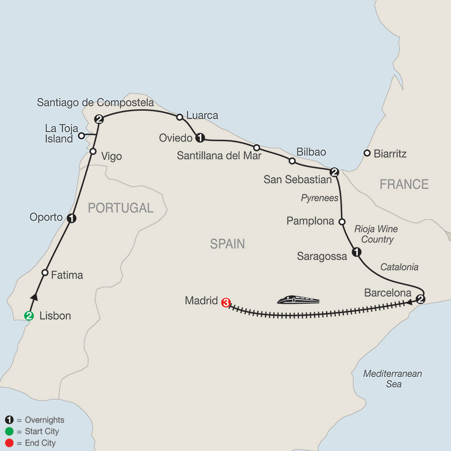 Lisbon & Northern Spain with Madrid