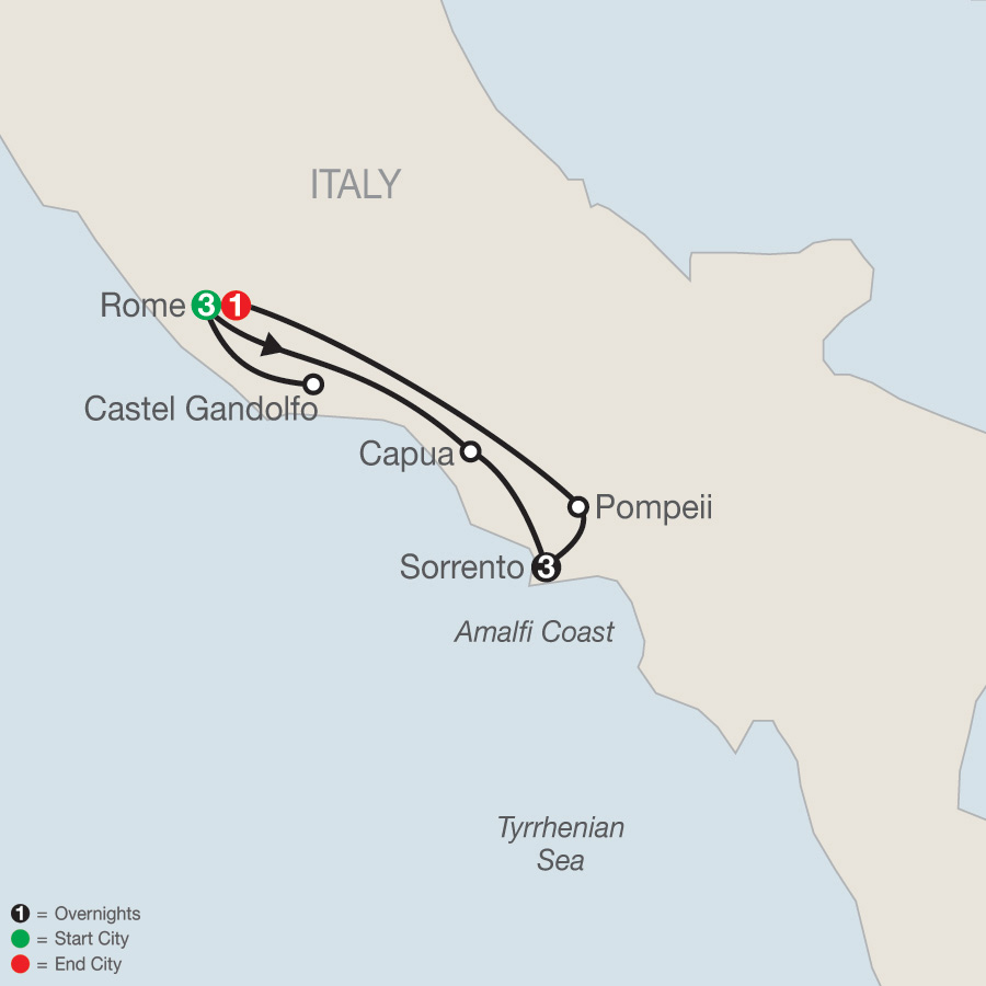 Rome & Sorrento Escape