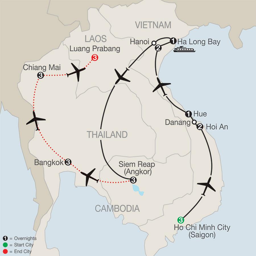 Vietnam & Cambodia: A Grand Adventure with Bangkok, Chiang Mai & Luang Prabang