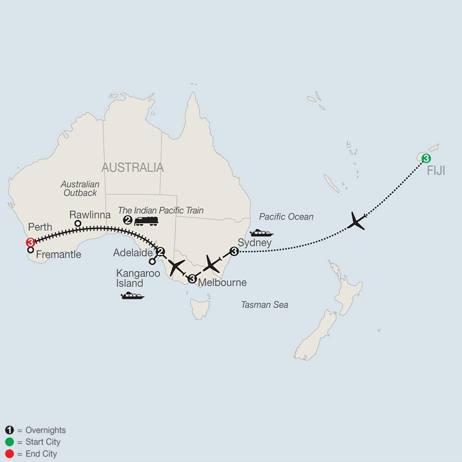 Across Australia by Train with Fiji