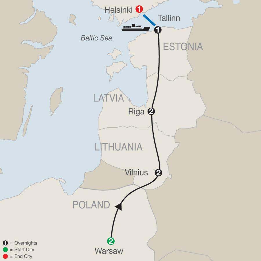 Warsaw, the Baltics & Helsinki