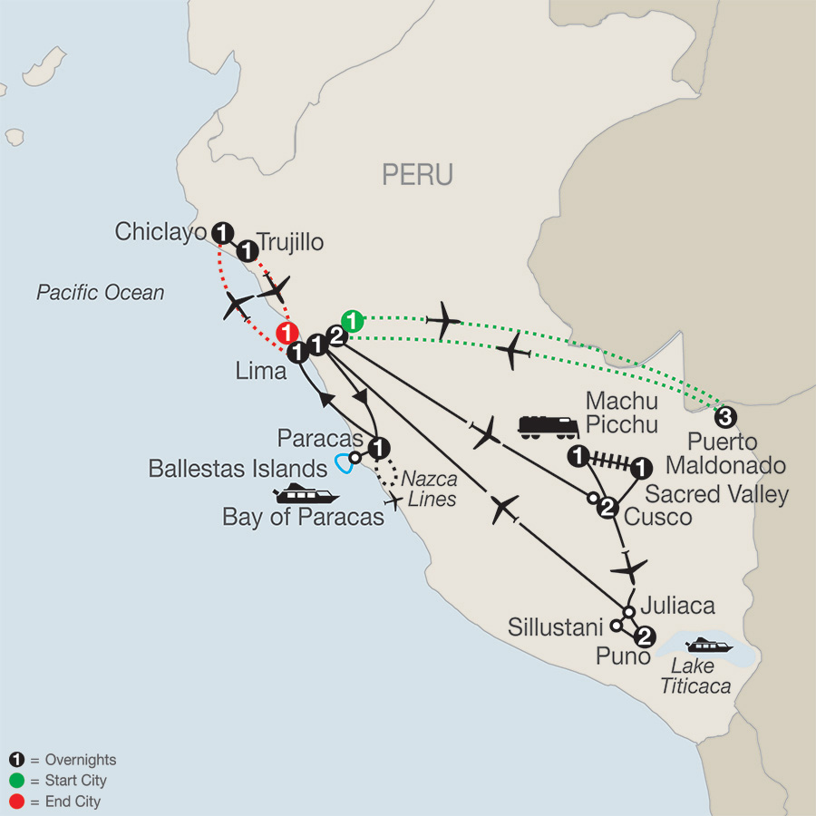 Legacy of the Incas with Peru's Amazon, Chiclayo & Trujillo