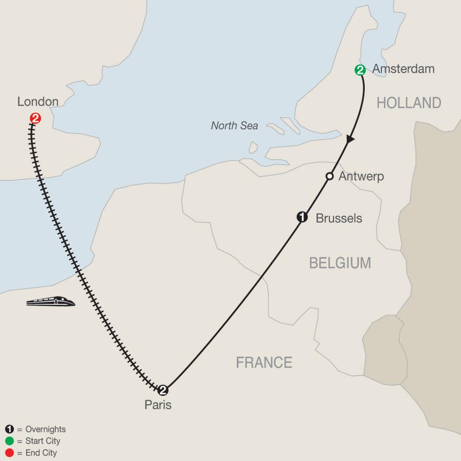 Four Capitals of Europe Escape