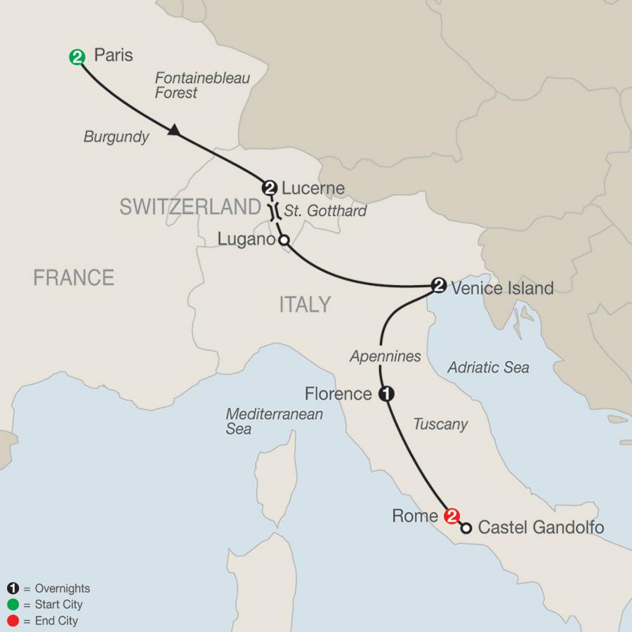 Paris to Rome Escape