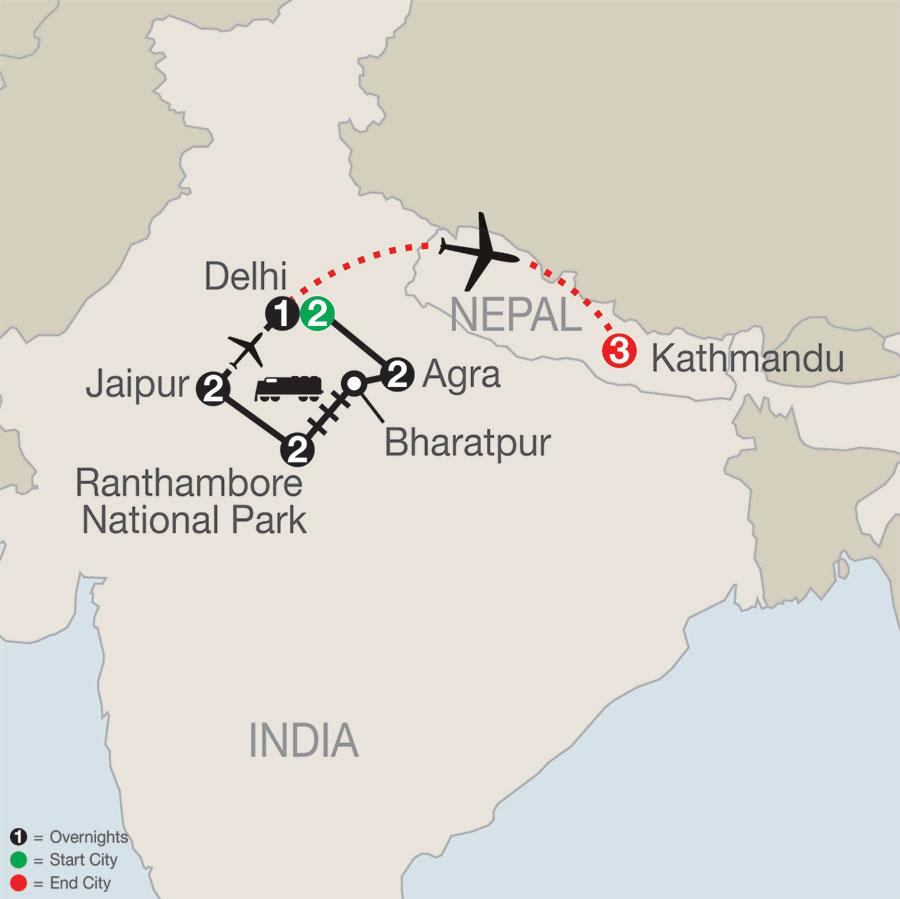 Icons of India: The Taj, Tigers & Beyond with Kathmandu