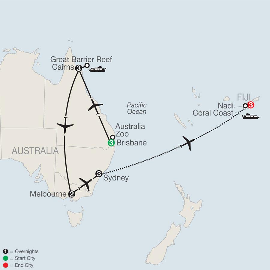 Great Sights of Australia with Fiji