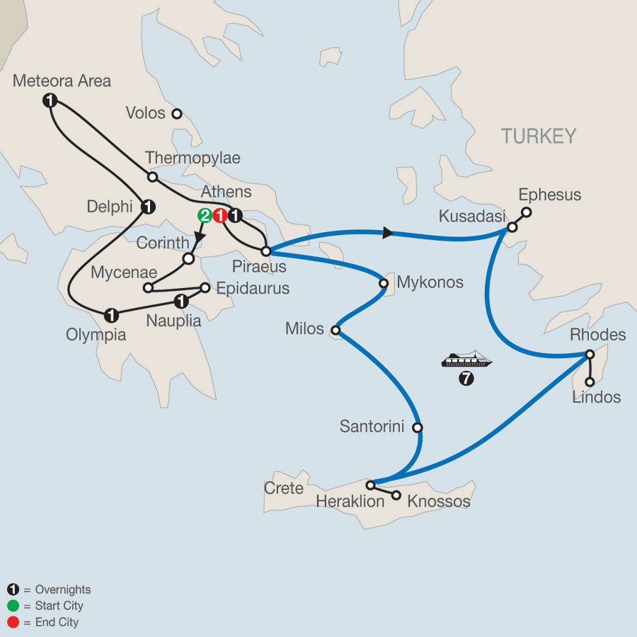 Classical Greece with Idyllic Aegean 7-Night Cruise