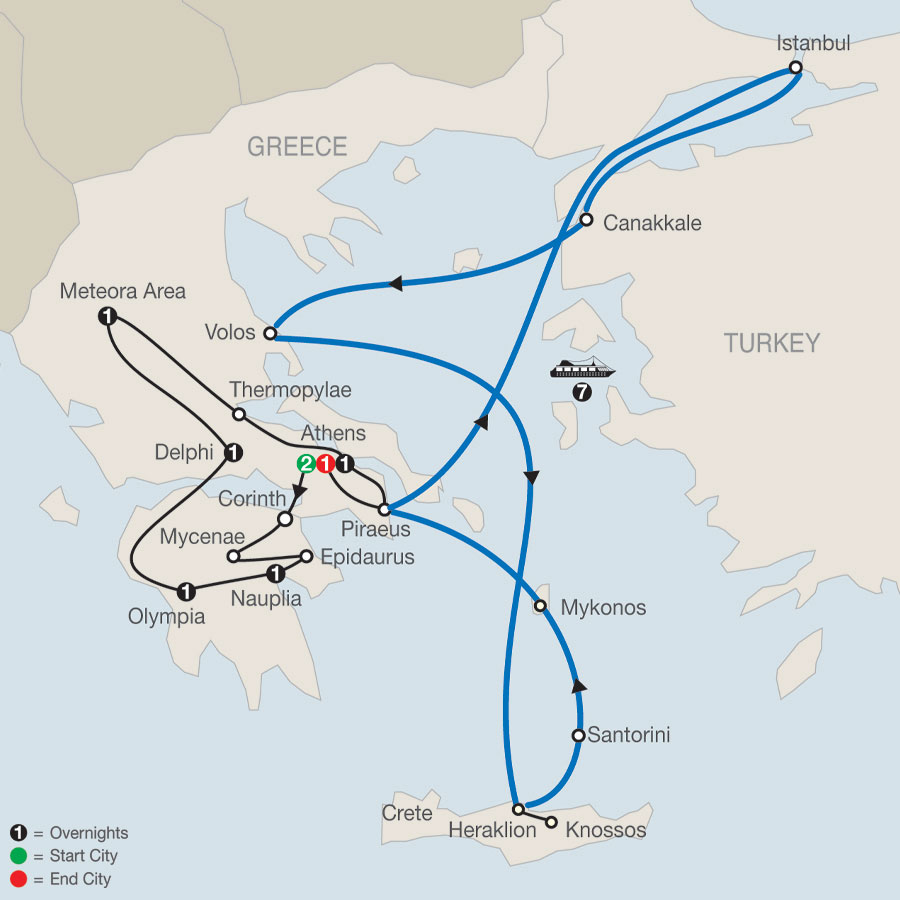 Classical Greece with Eclectic Aegean 7-Night Cruise