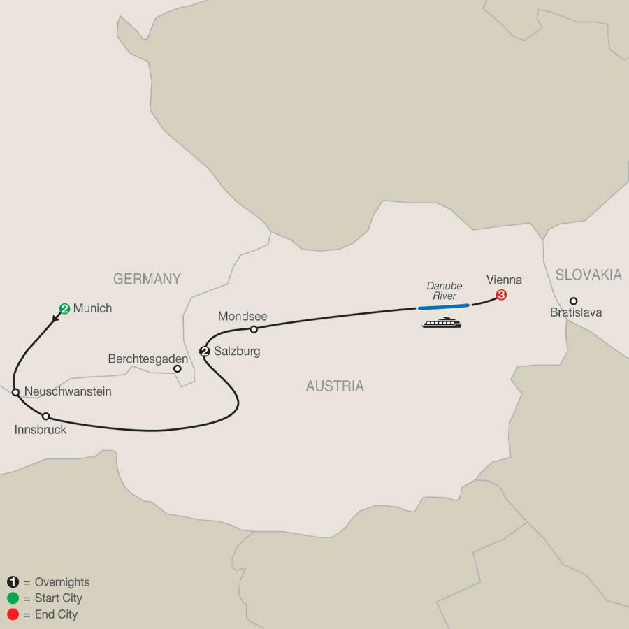 Munich, Salzburg & Vienna