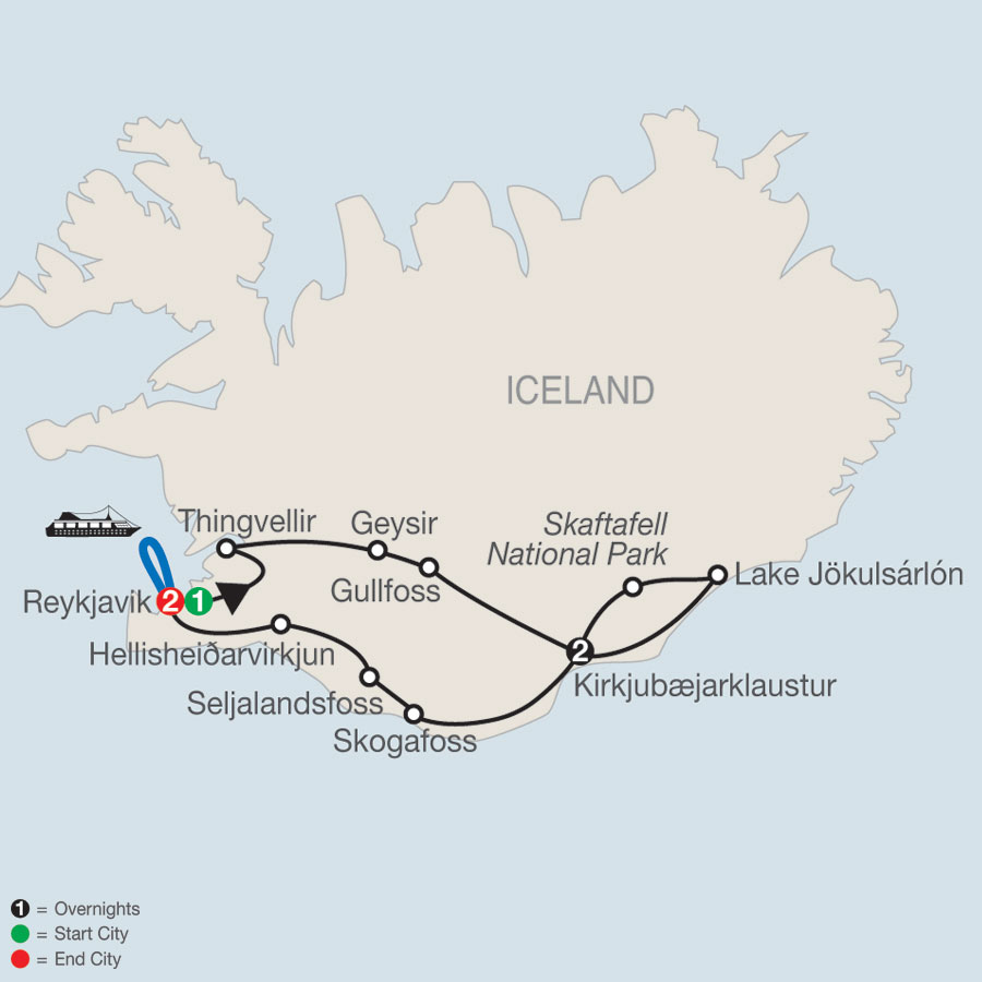 Gems of Iceland with Whale Watching