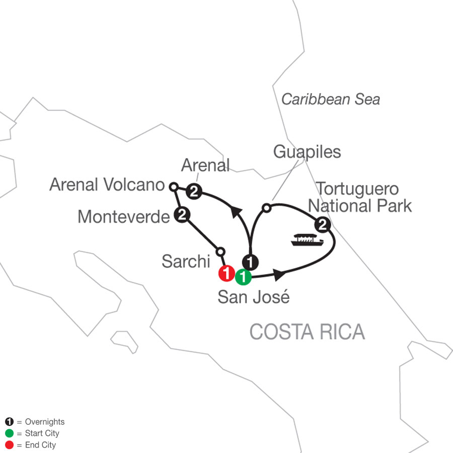 Costa Rica Escape with Tortuguero
