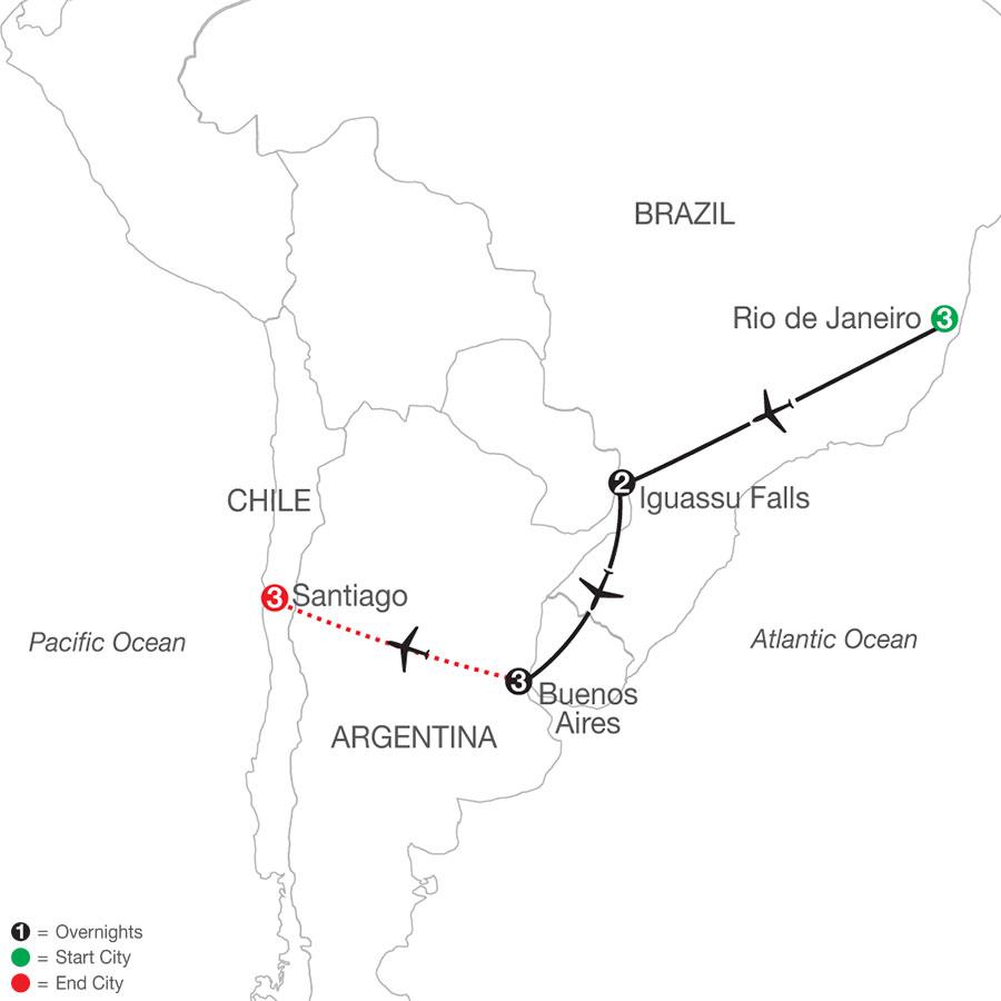 South America Getaway with Santiago