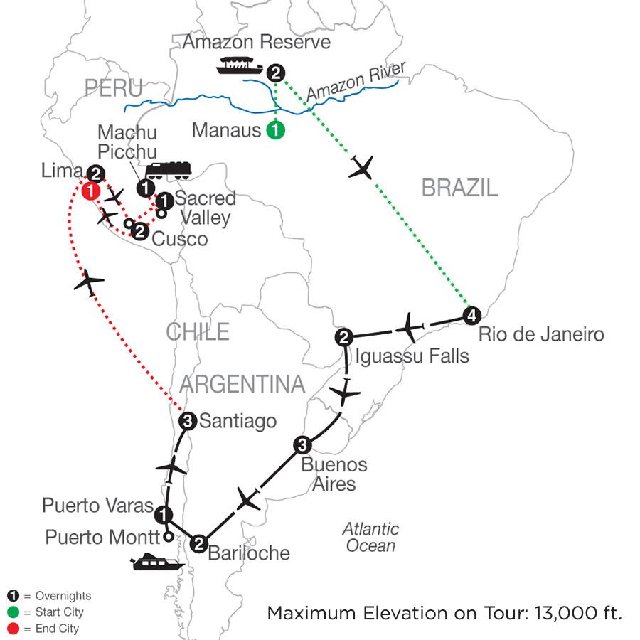South American Odyssey with Amazon & Peru