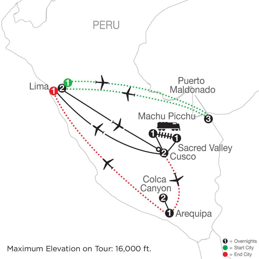 Peru Splendors with Peru's Amazon, Arequipa & Colca Canyon