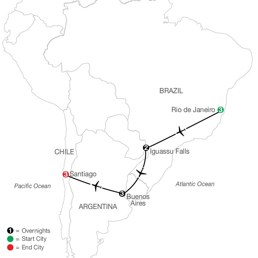 Brazil & Argentina Escape with Santiago