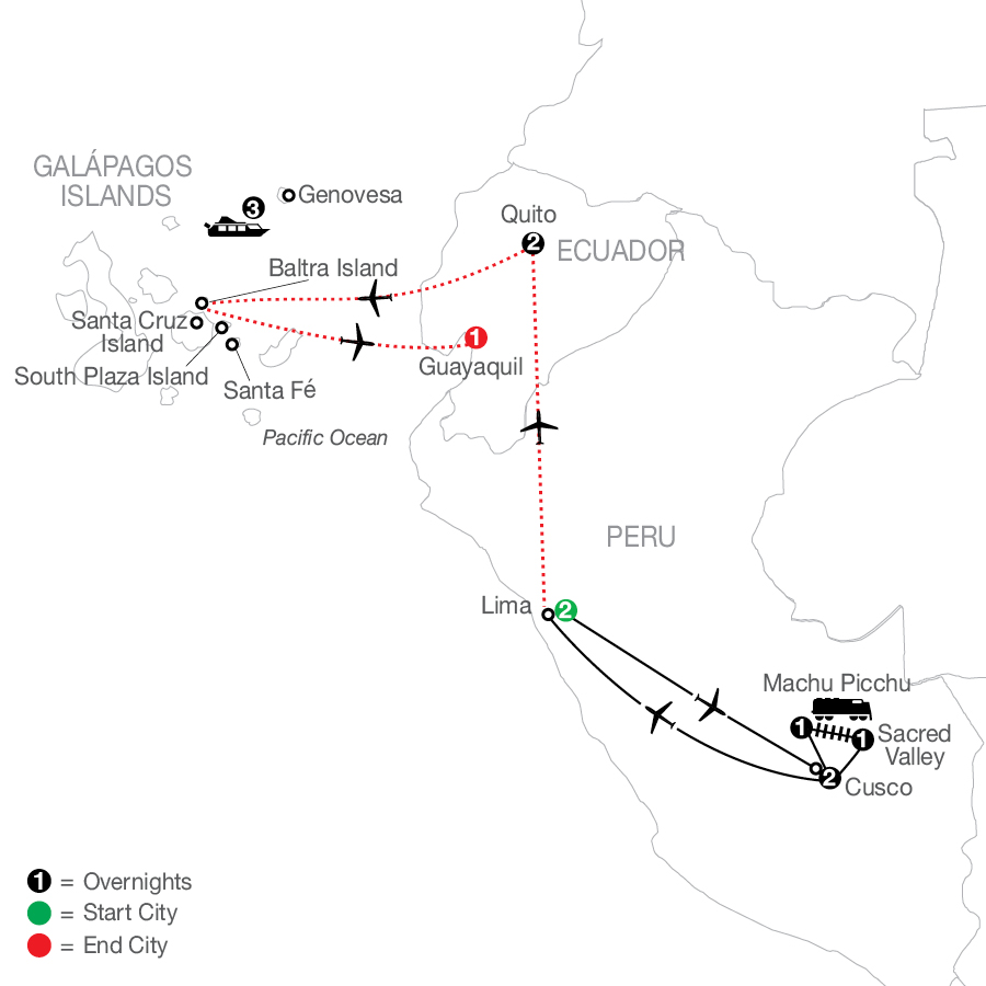 Peru Splendors with Galápagos Cruise